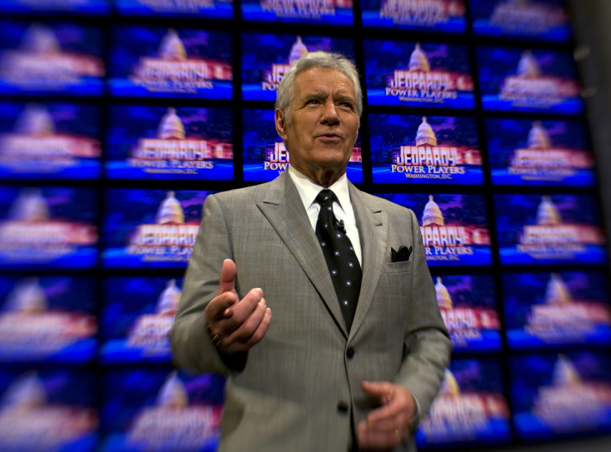The late Alex Trebek, pictured here in Washington for his 'Jeopardy!' Power Players Week, 2012