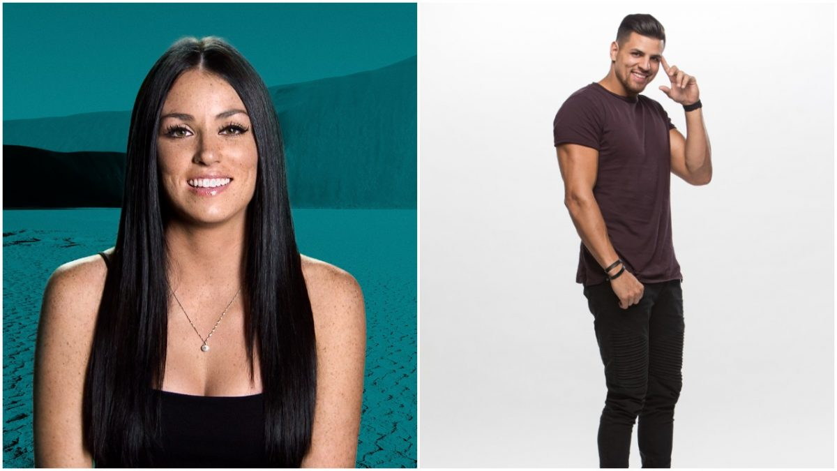 Amanda Garcia poses for 'The Challenge: War of the Worlds' cast photo and Fessy Shafaat poses for his 'Big Brother 20' cast photo