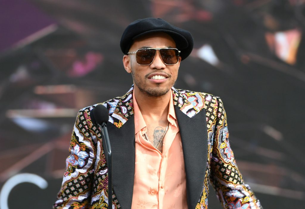 In this image released on March 14, Anderson .Paak accepts the Best Melodic Rap Performance award for 'Lockdown' onstage during the 63rd Annual GRAMMY Awards at Los Angeles Convention Center in Los Angeles, California and broadcast on March 14, 2021.