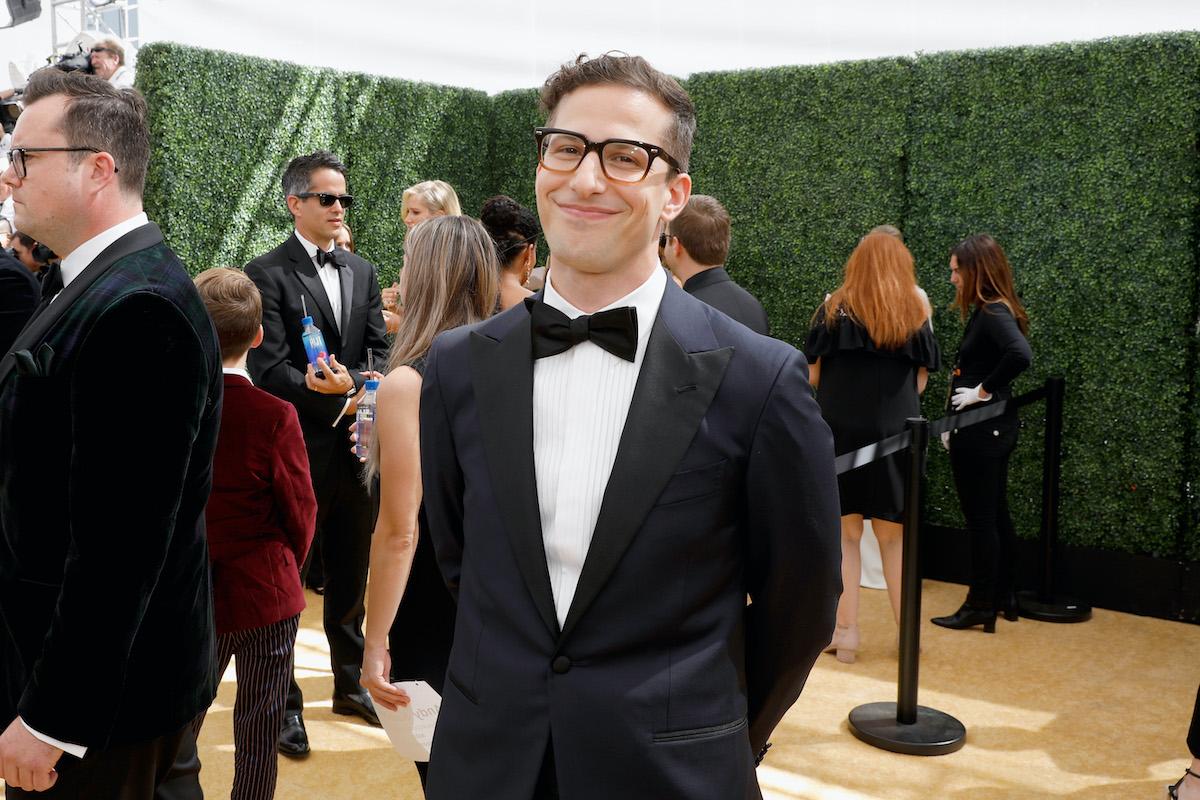 L'attore Andy Samberg arriva alla 70a edizione degli Emmy Awards che si è tenuta al Microsoft Theatre il 17 settembre 2018