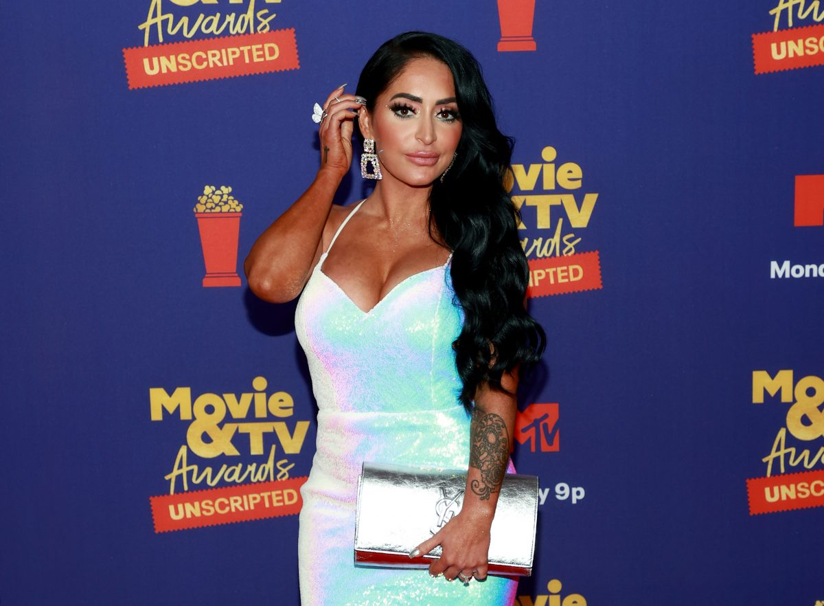 Angelina Pivarnick from 'Jersey Shore' attends the 2021 MTV Movie and TV Awards