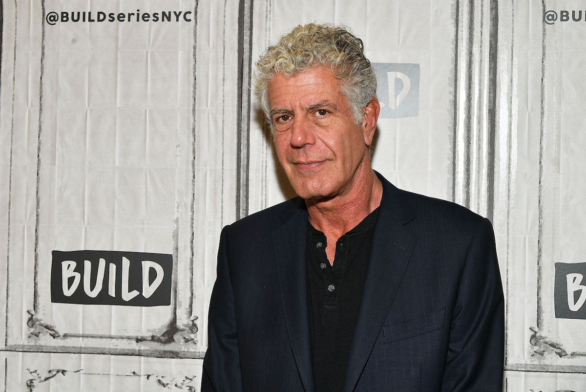 Anthony Bourdain on the red carpet