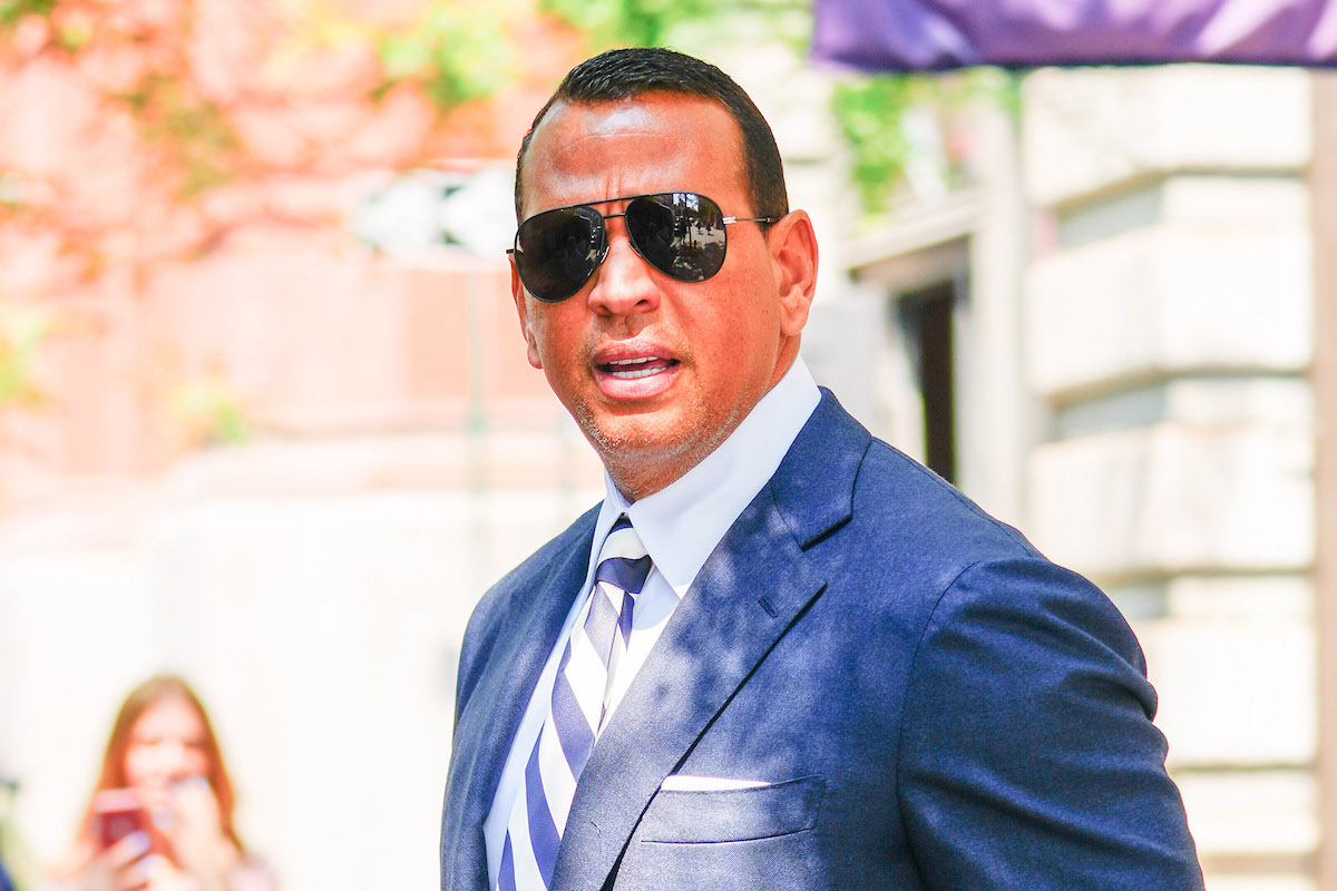 Alex Rodriguez seen on July 15, 2021 in New York City.