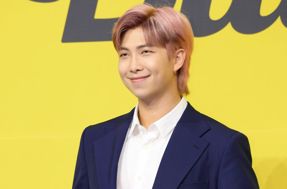 RM of BTS attends BTS' press conference for their single 'Butter'