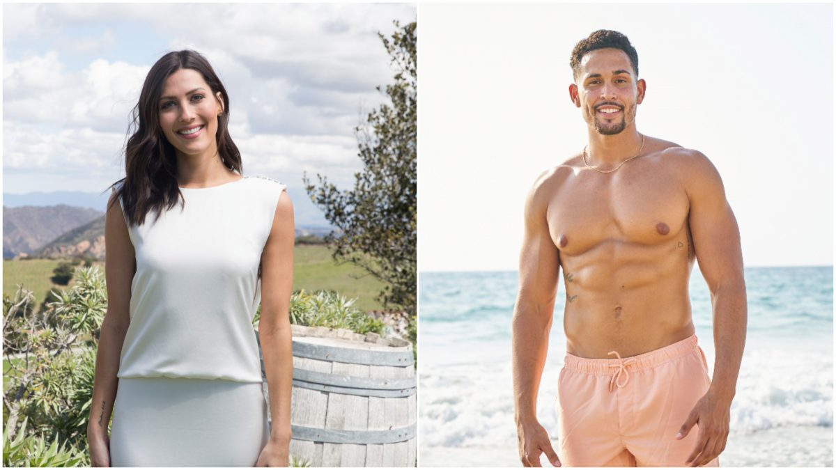 Headshots of 'Bachelor in Paradise' and 'Bachelorette' stars Becca Kufrin and Thomas Jacobs