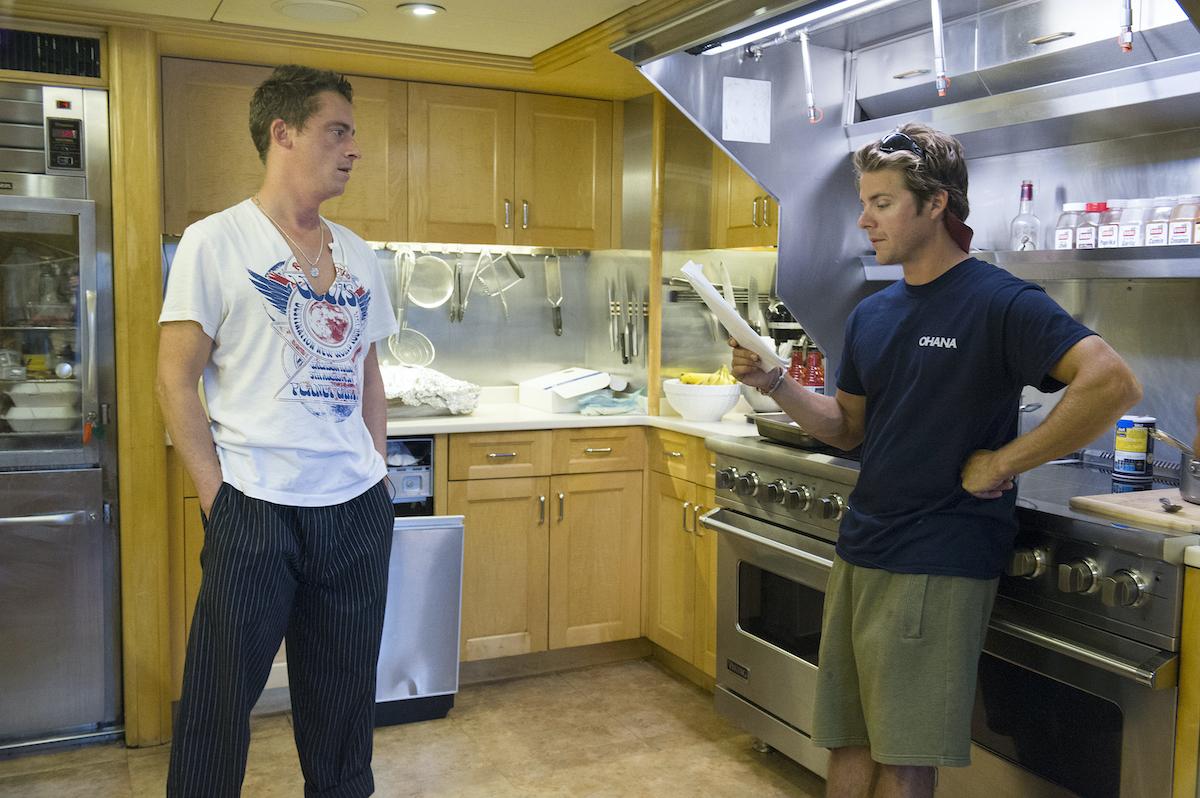 Chef Ben Robinson, Eddie Lucas from Below Deck discuss the menu and crew food