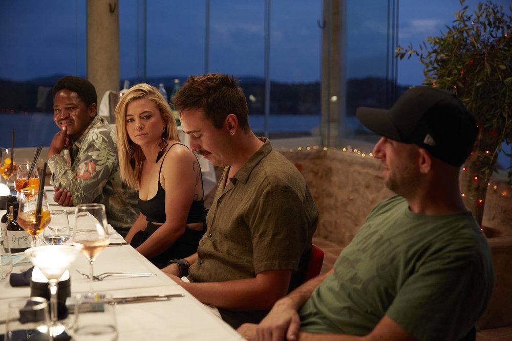 The Below Deck Mediterranean Season 6 crew have dinner