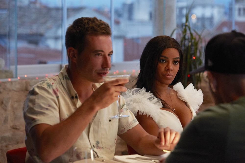David Pascoe and Lexi Wilson from Below Deck Mediterranean have dinner with the crew