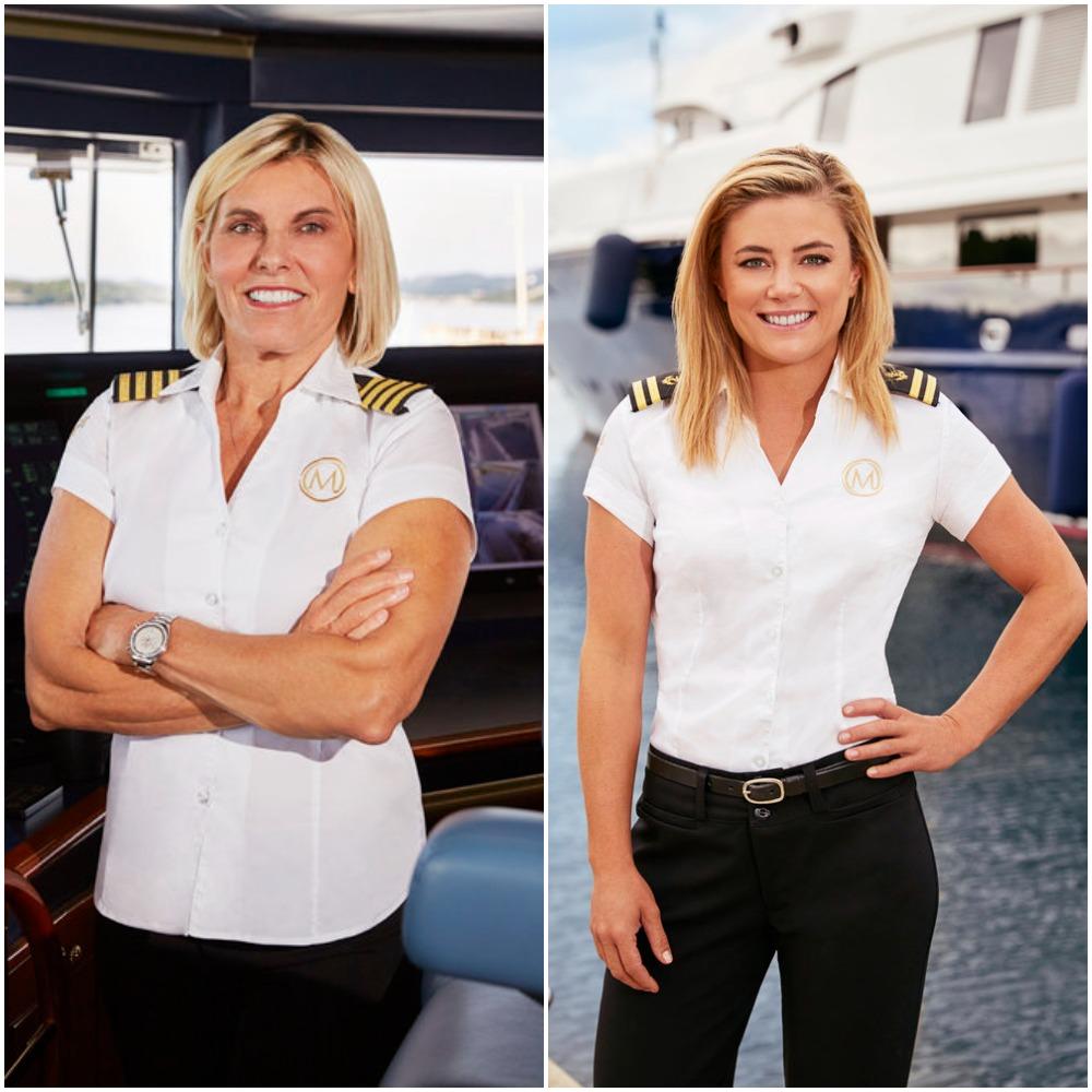 Captain Sandy Yawn and Malia White Below Deck Mediterranean Season 6 cast photos