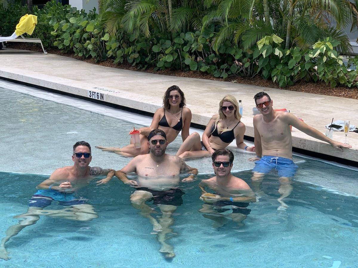 Below Deck crew hangs by the pool