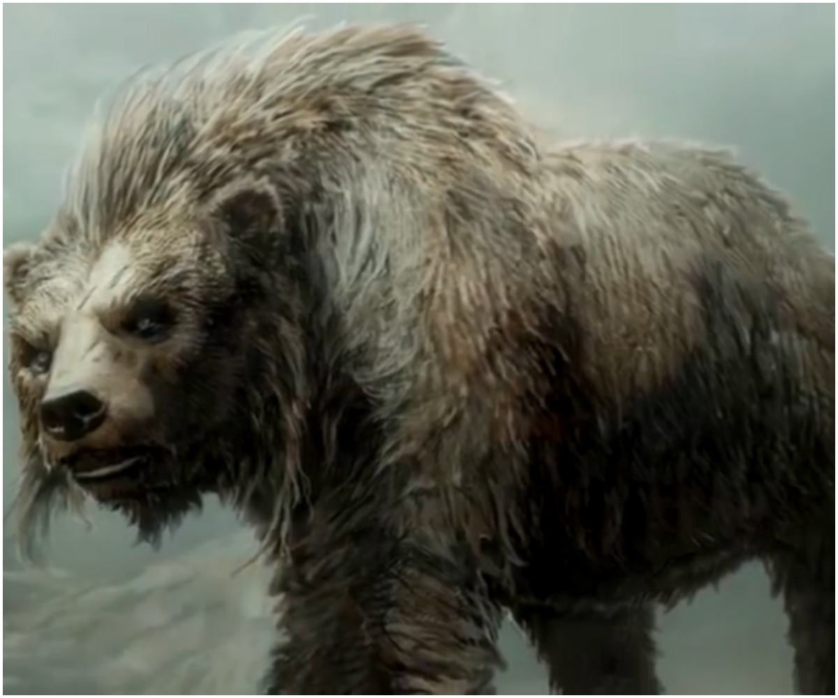 A large bear-like creature from the Hobbit stalks about