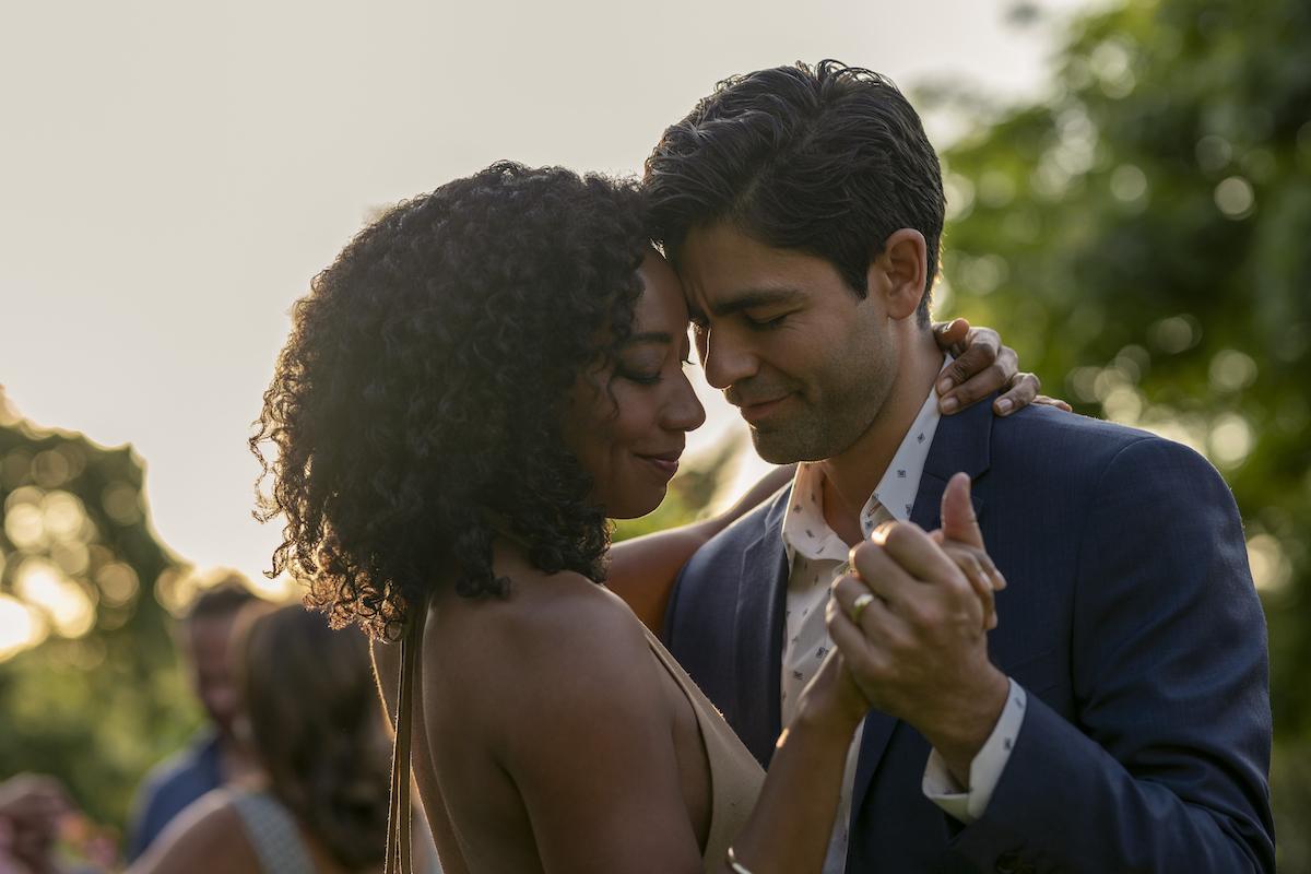 Betty Gabriel and Adrian Grenier dance in 'Clickbait' Season 1