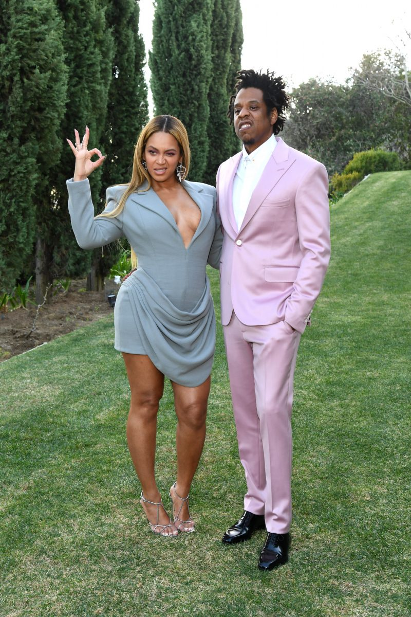 Beyoncé and Jay-Z attending the 2020 Roc Nation Brunch