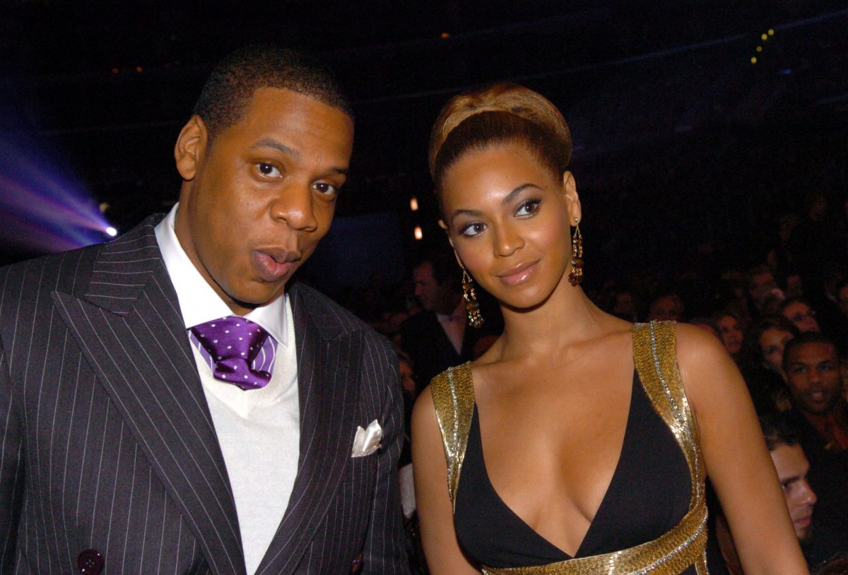 Beyoncé and Jay-Z attending the 47th Annual Grammy Awards