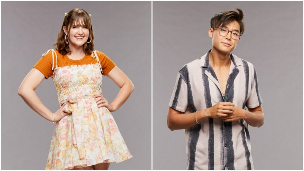 Sarah Beth Steagall and Derek Xiao pose for 'Big Brother 23' cast photo