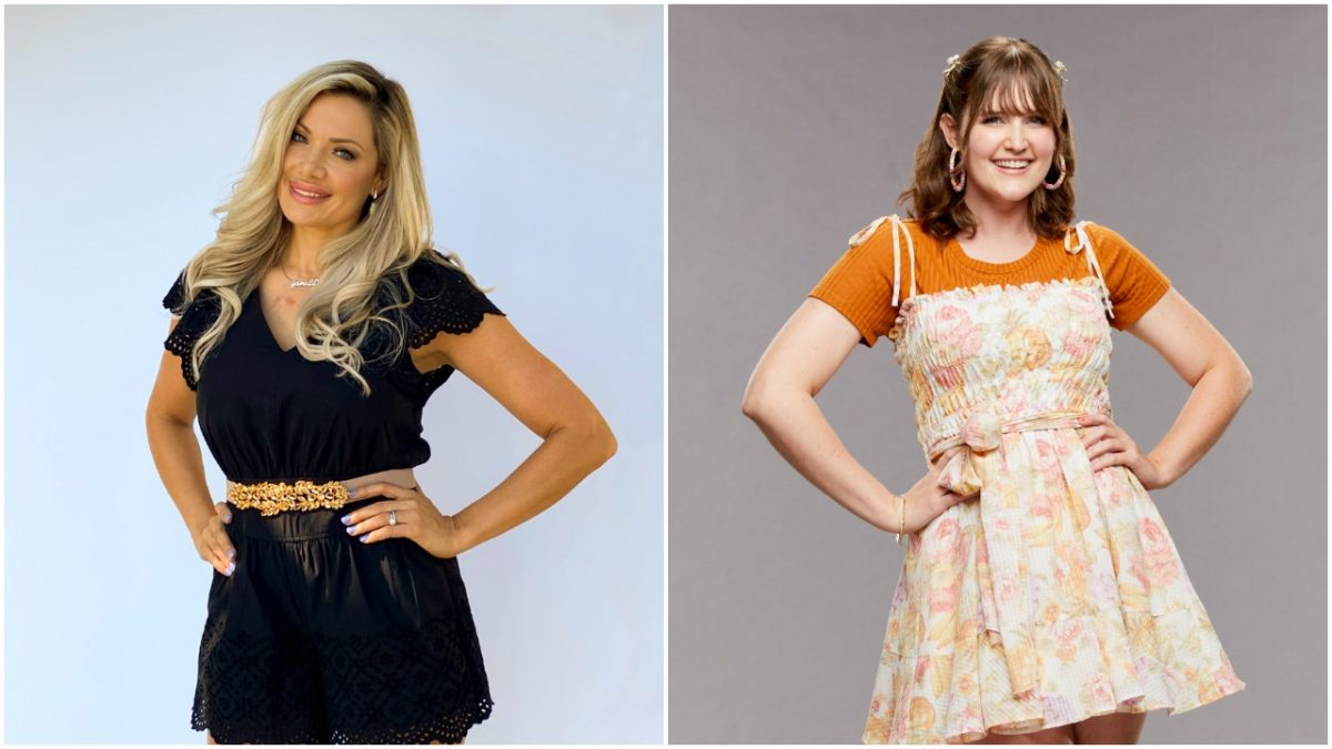 Janelle Pierzina and Sarah Beth Steagall pose for 'Big Brother' cast photos