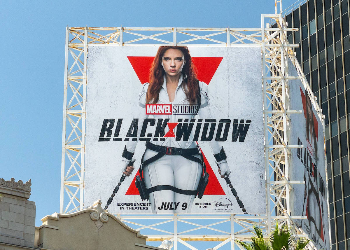 Large Black Widow Billboard