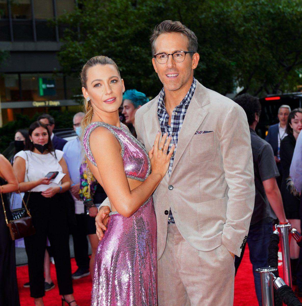 """Blake Lively and Ryan Reynolds at the """"Free Guy"""" premiere in NYC"""