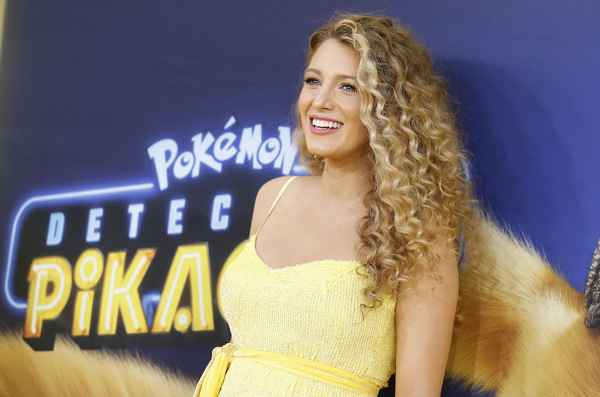 Blake Lively in a yellow dress