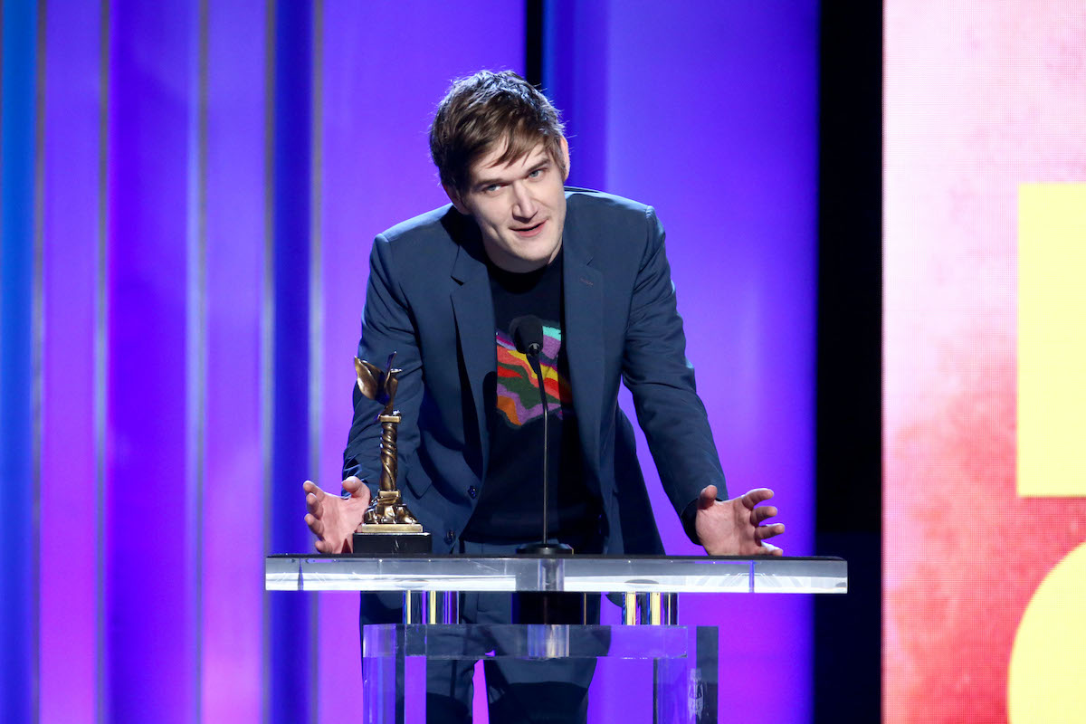 """Bo Burnham accepts Best First Screenplay for """"Eighth Grade"""" onstage during the 2019 Film Independent Spirit Awards on February 23, 2019 in Santa Monica, California."""