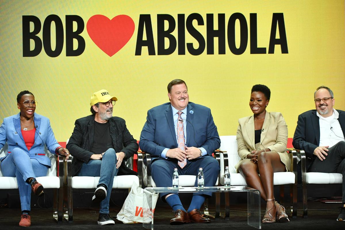 "Gina Yashere, Chuck Lorre, Billy Gardell, Folake Olowofoyeku and Al Higgins of ""Bob Hearts Abishola"""