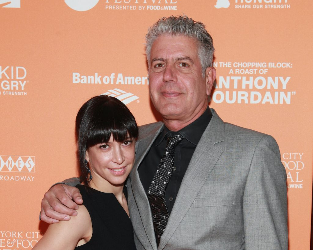 Anthony Bourdain with his ex-wife
