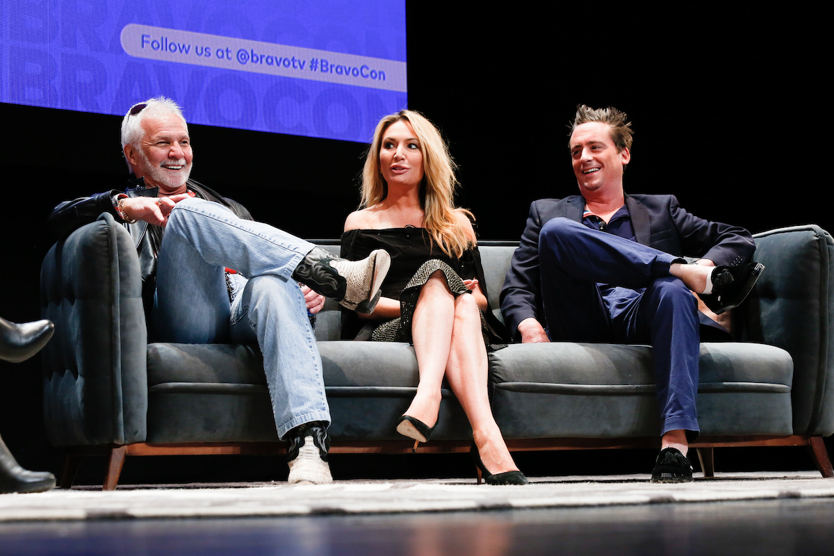 Captain Lee Rosbach, Kate Chastain, Ben Robinson from Below Deck attend BravoCon