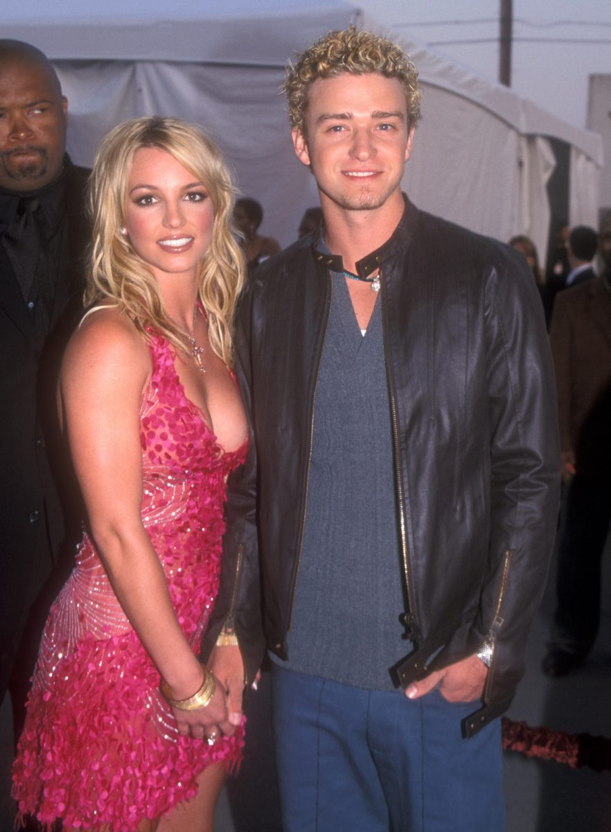 Britney Spears and Justin Timberlake attending the 29th Annual American Music Awards
