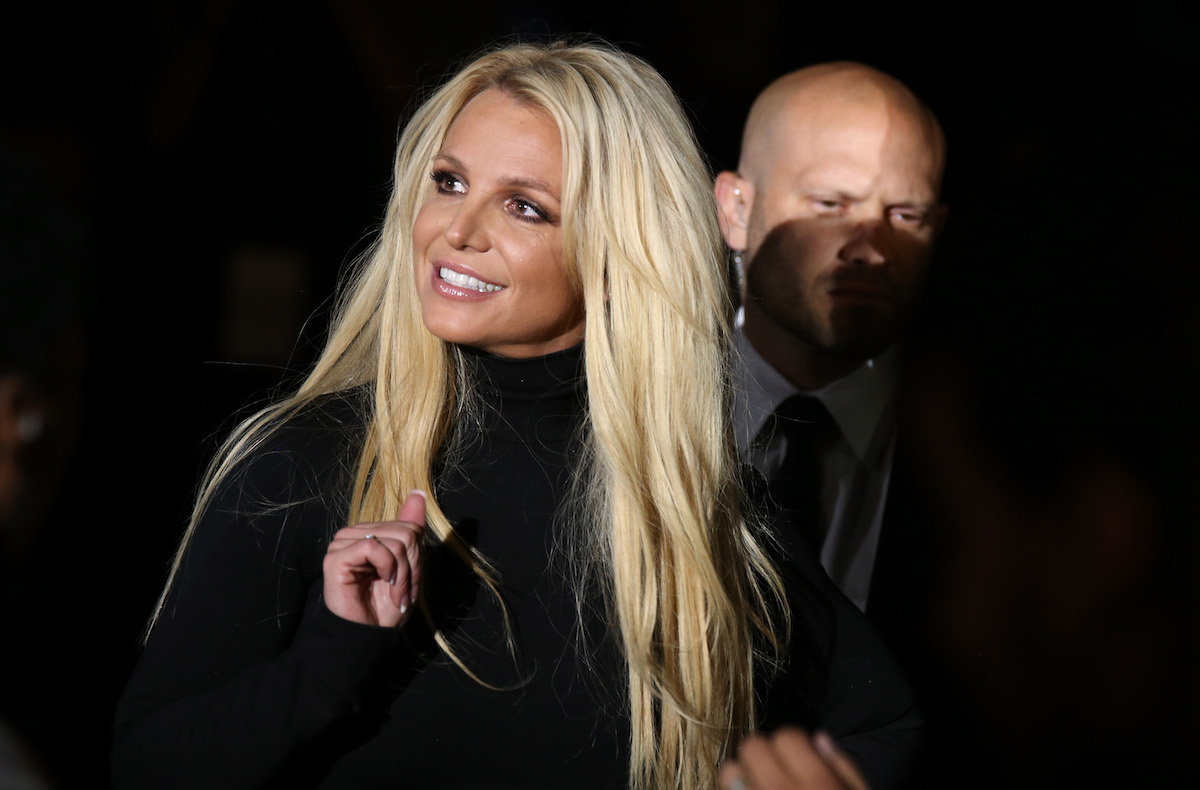 Britney Spears in black dress