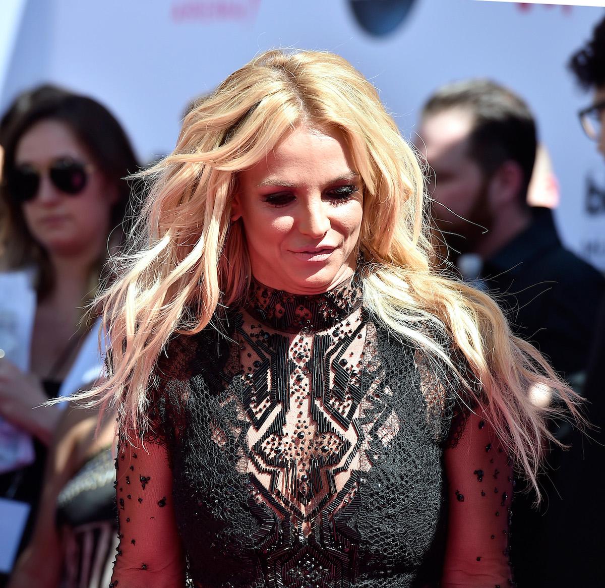 Britney Spears in lace dress