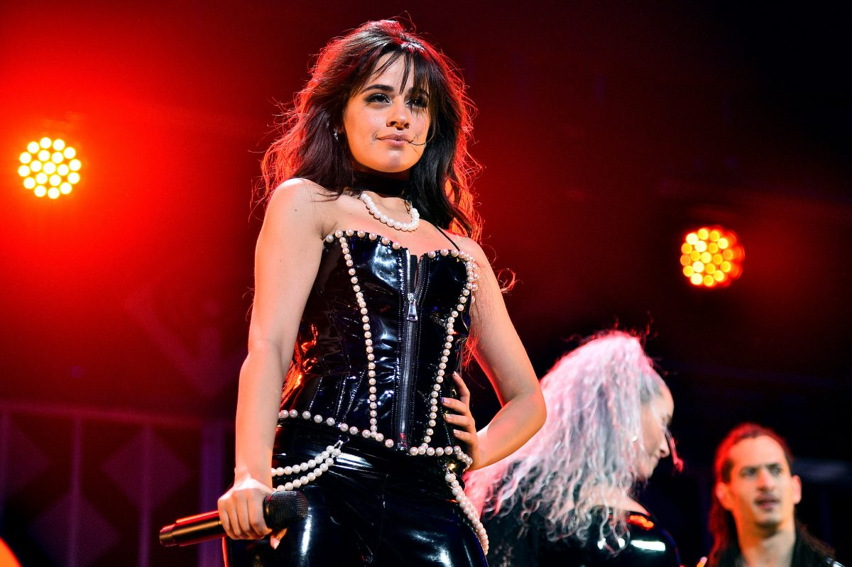 Camila Cabello performing onstage during iHeartRadio's Z100 Jingle Ball 2019