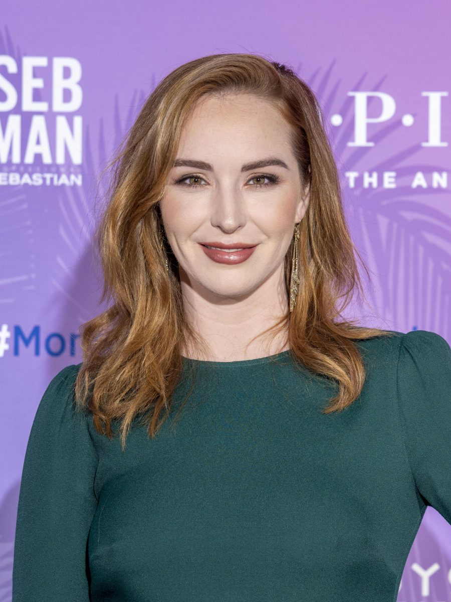 'The Young and the Restless' actor Camryn Grimes wears a green dress as she attends the 2019 Monte Carlo TV Festival.