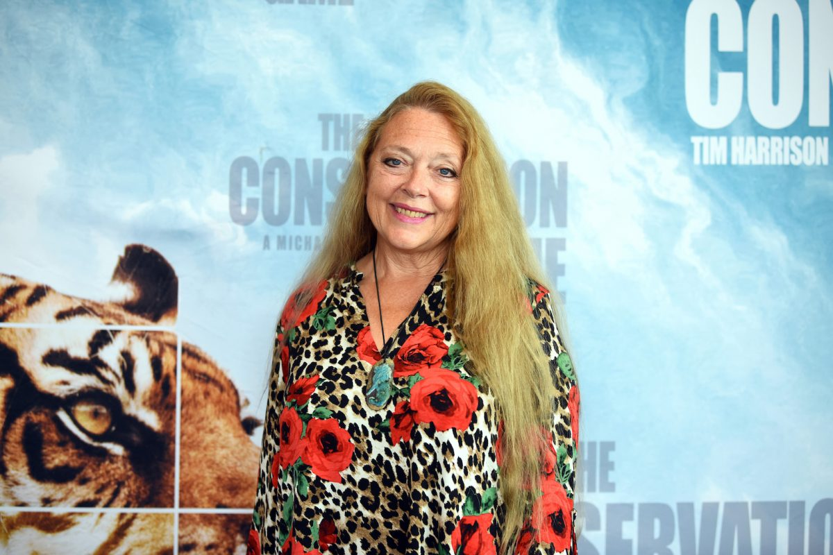 The 'Tiger King' star Carole Baskin at  'The Conservation Game' on Aug. 28, 2021