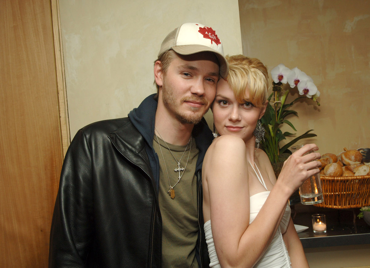 Chad Michael Murray and Hilarie Burton at a party
