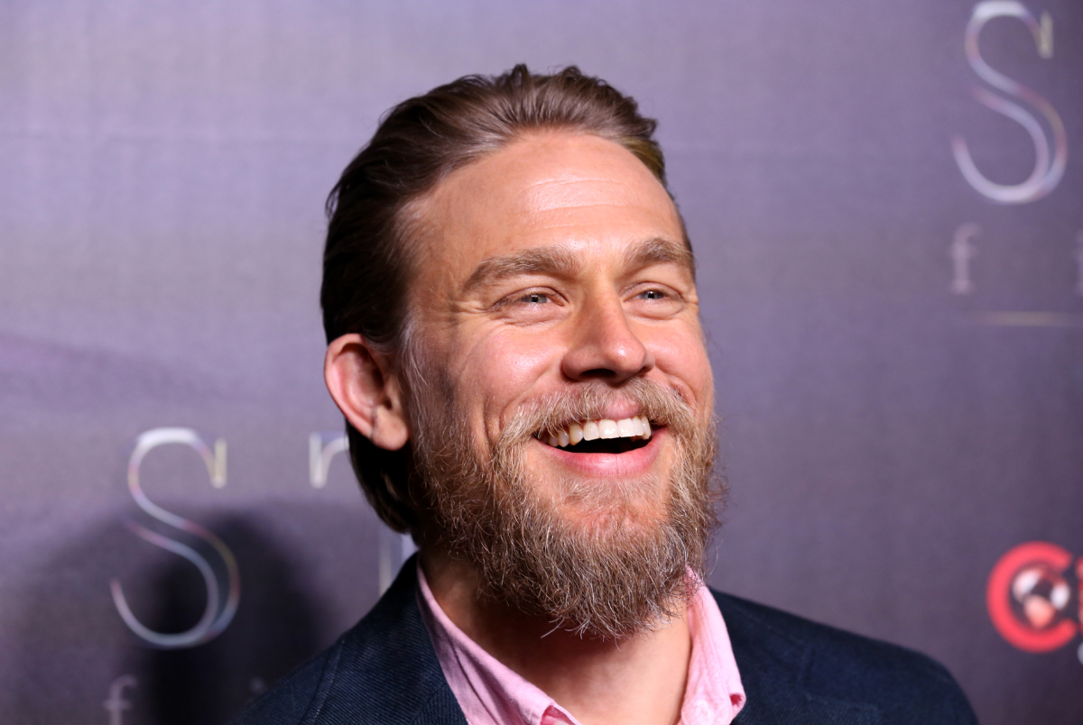 """Charlie Hunnam attends """"The State of the Industry: Past, Present and Future"""" STXfilms presentation at The Colosseum at Caesars Palace during CinemaCon, the official convention of the National Association of Theatre Owners on April 02, 2019 in Las Vegas, Nevada"""