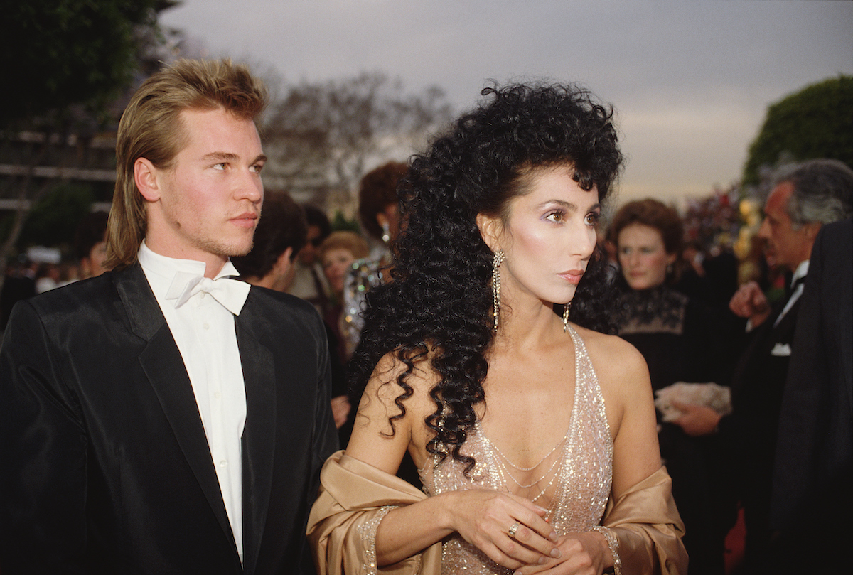 Cher and Val Kilmer in formal wear