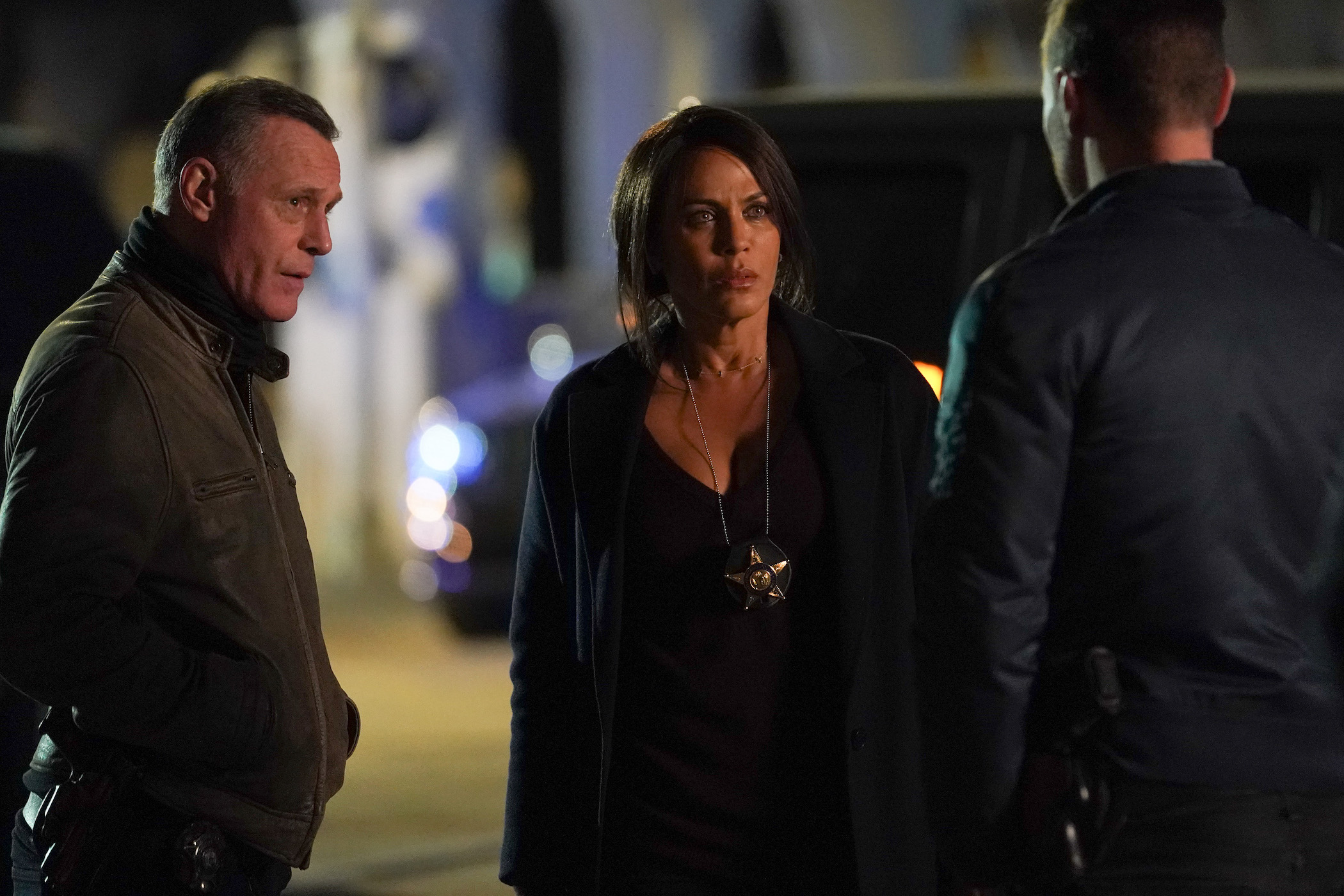 Jason Beghe as Hank Voight and Nicole Ari Parker as Samantha Miller in 'Chicago P.D.'