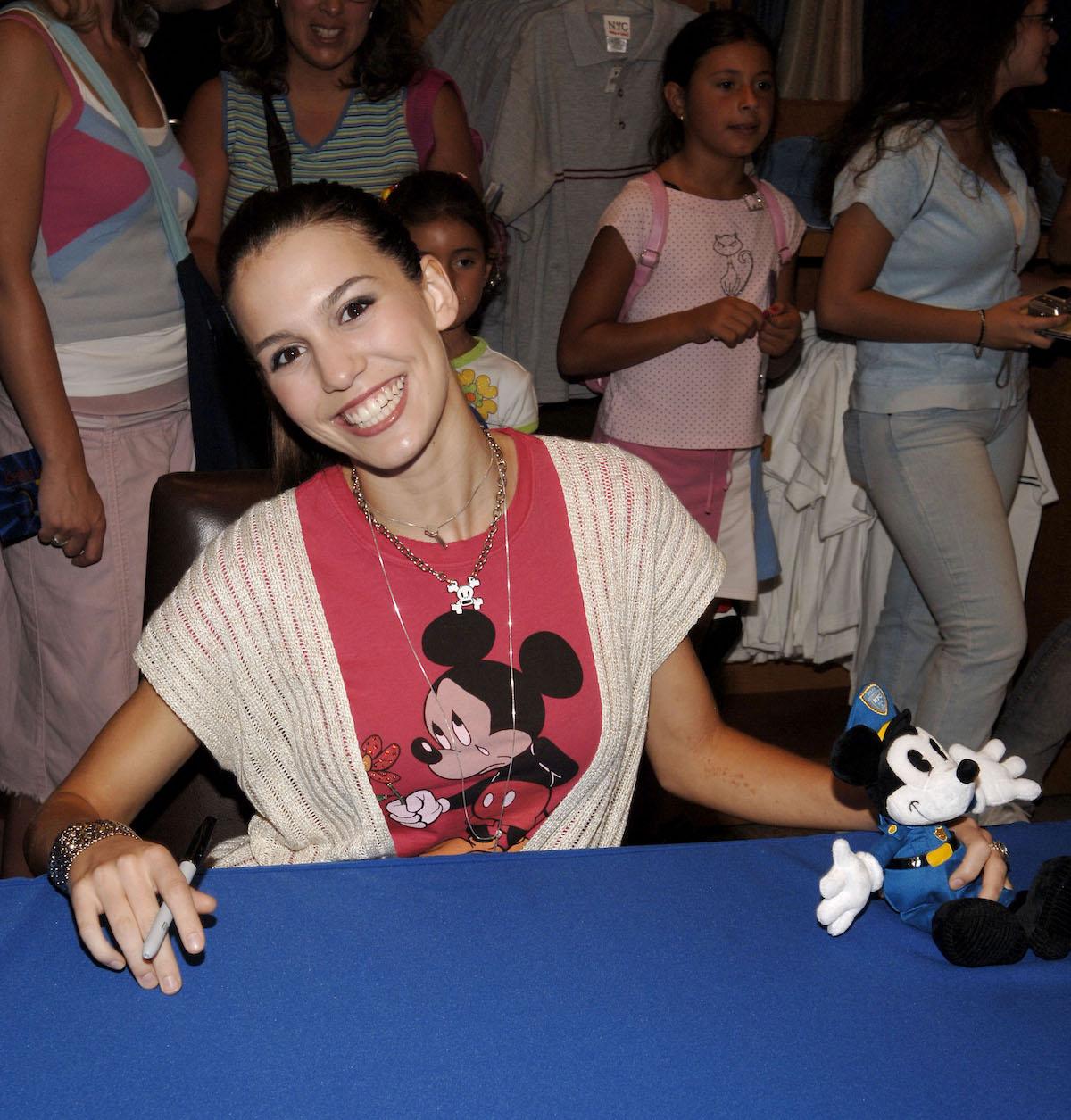 Christy Carlson Romano wearing Mickey shirt