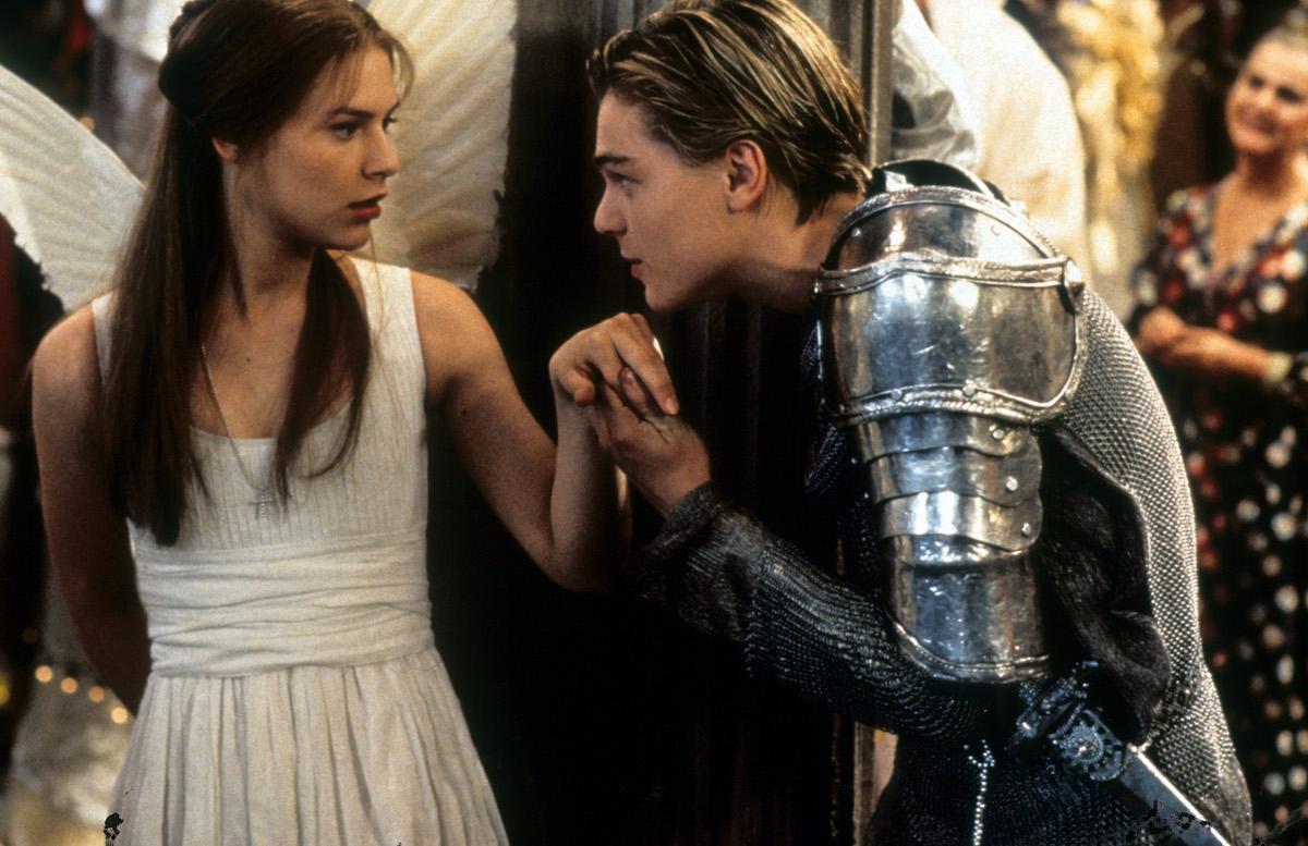 Claire Danes and Leonardo DiCaprio as Romeo and Juliet