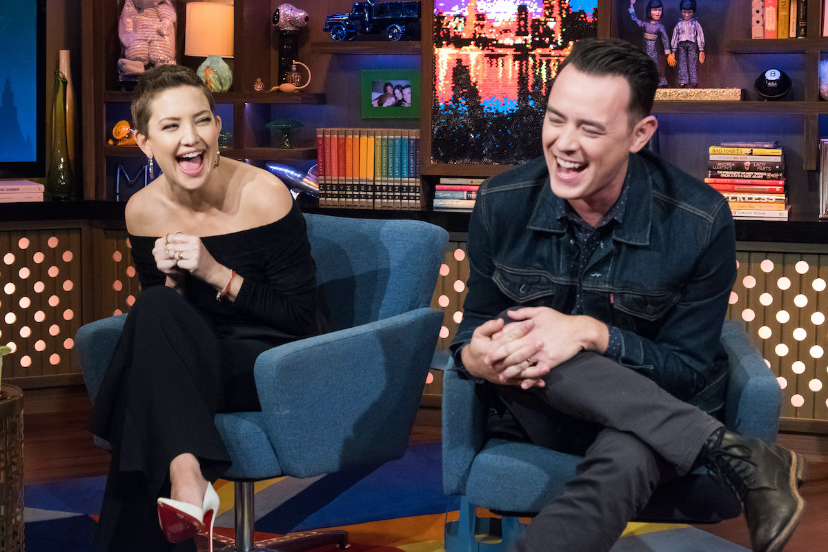 Kate Hudson and Colin Hanks has a good laugh on WWHL