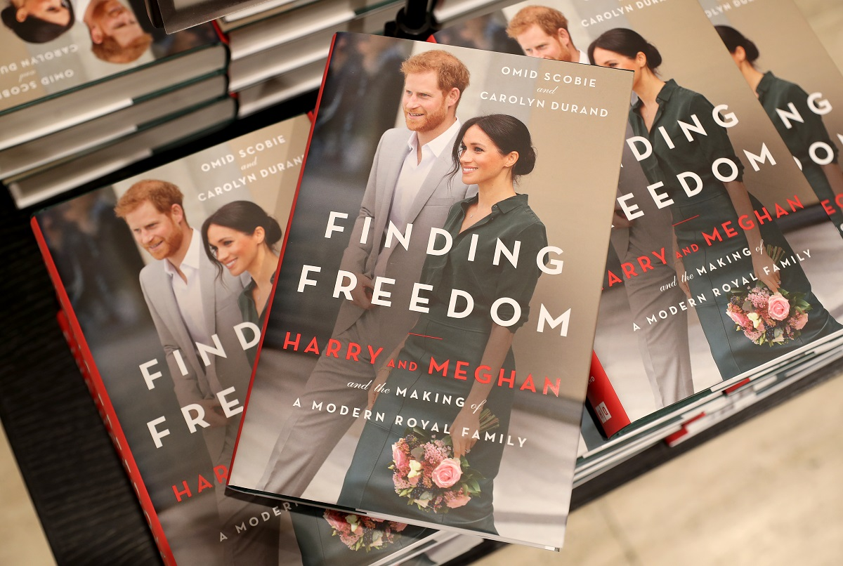 Copies of 'Finding Freedom' are stacked up in Waterstones Piccadilly store in London
