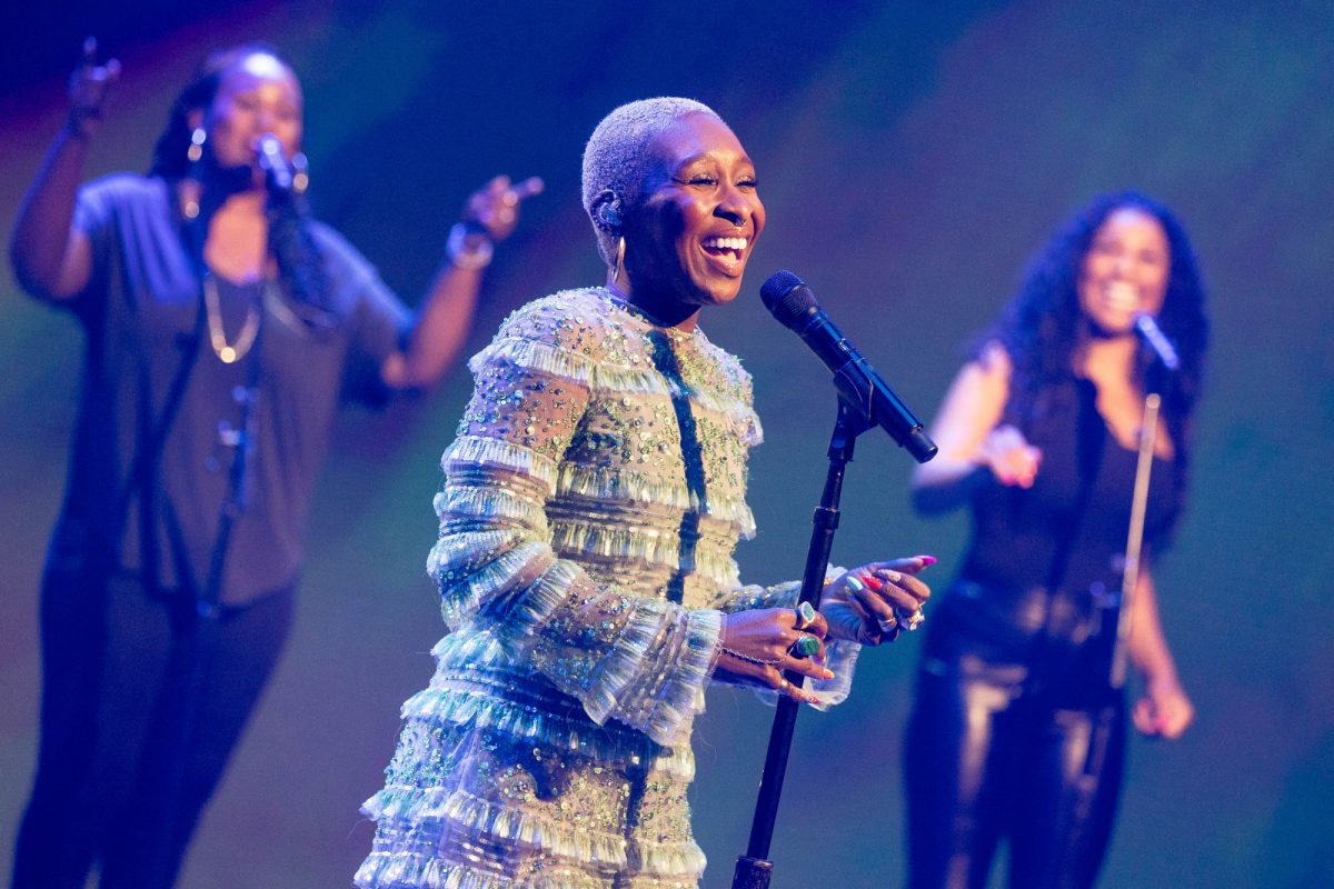 Cynthia Erivo, the lead actor in 'The Rose,' performing for A Capitol Fourth
