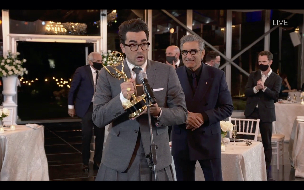 """THE 72ND EMMY® AWARDS - Hosted by Jimmy Kimmel, the """"72nd Emmy® Awards"""" will broadcast SUNDAY, SEPT. 20 (8:00 p.m. EDT/6:00 p.m. MDT/5:00 p.m. PDT), on ABC. (ABC via Getty Images)DANIEL LEVY, EUGENE LEVY"""