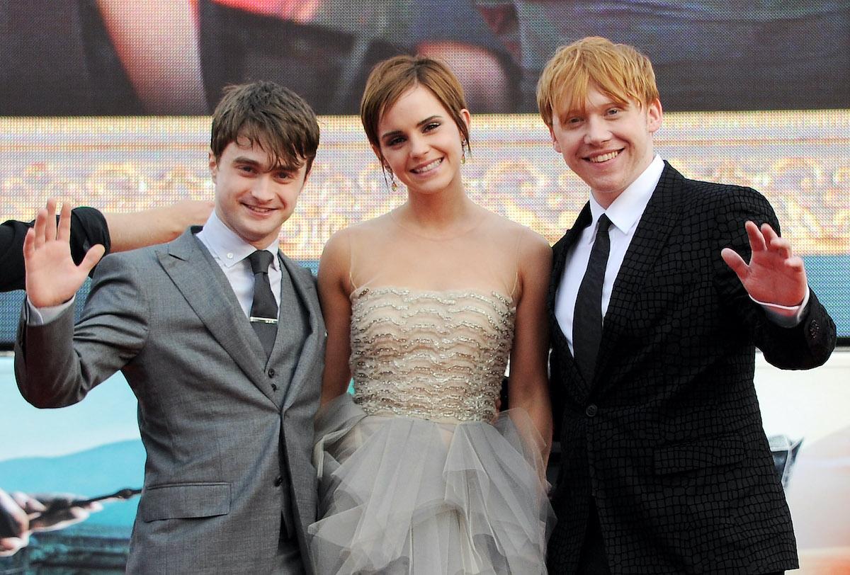 'Harry Potter' cast members: Daniel Radcliffe, Emma Watson, and Rupert Grint