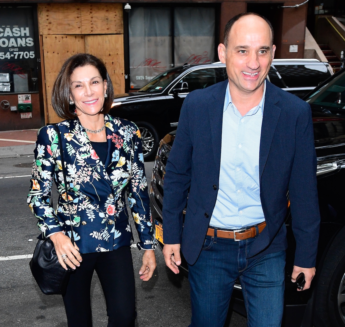 Hilary Farr and David Visentin arrive for a TODAY show appearance in 2019