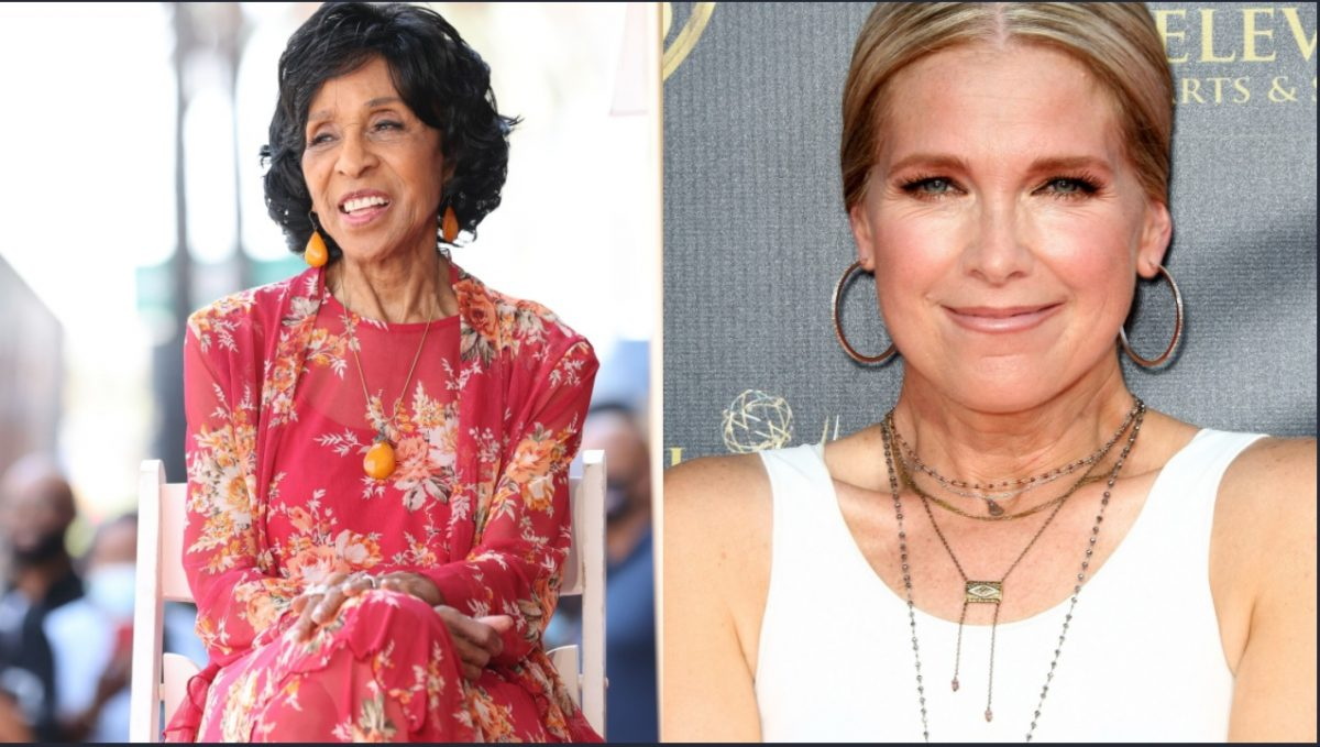 This week's Days of Our Lives comings and goings focuses on Marla Gibbs, L, and Melissa Reeves, pictured here