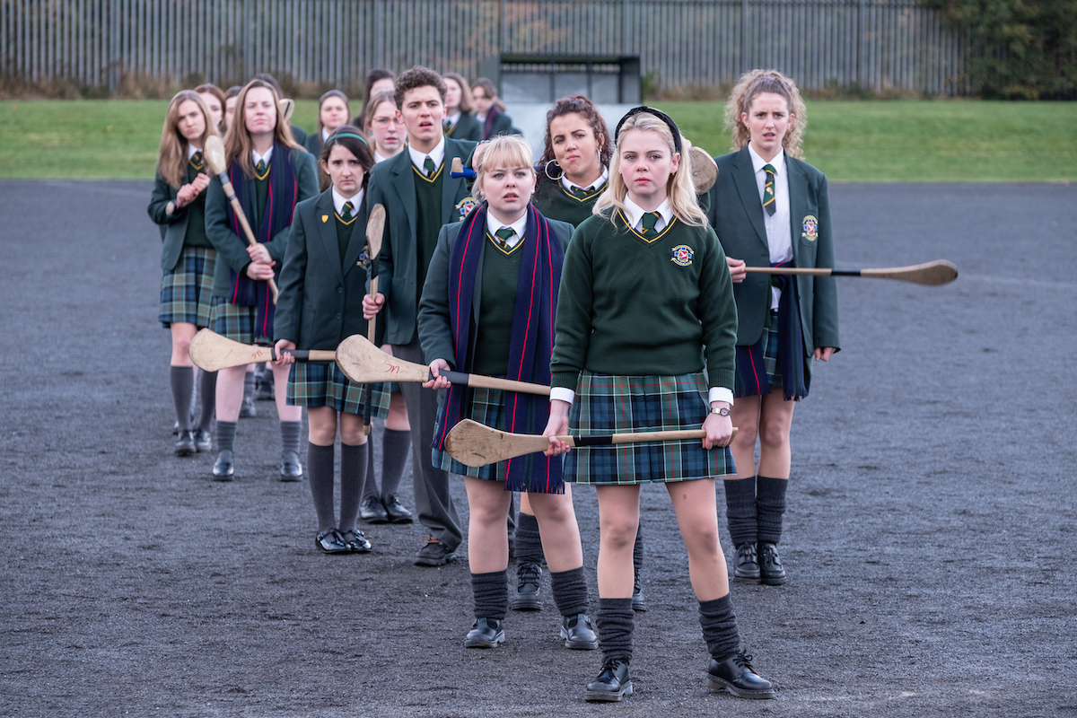 The cast of Derry girls in their penultimate season, season 2