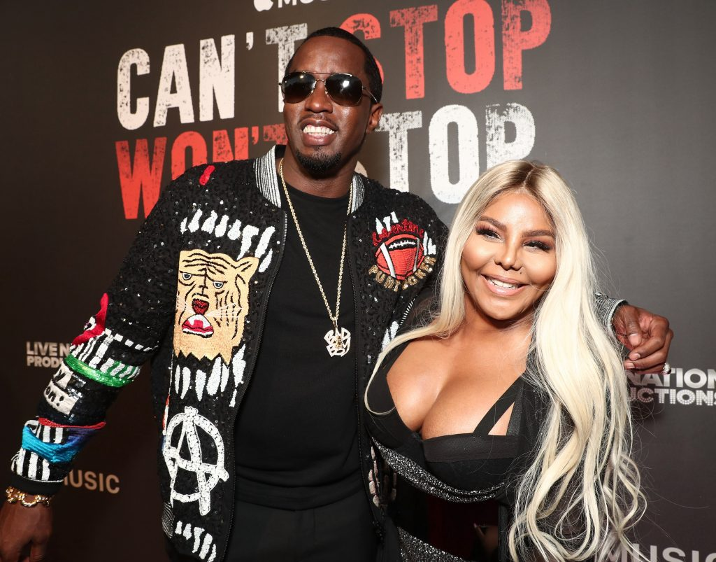 """Sean 'Diddy' Combs and Lil' Kim attend the Los Angeles Premiere of """"Can't Stop Won't Stop"""" at the Writers Guild of America"""