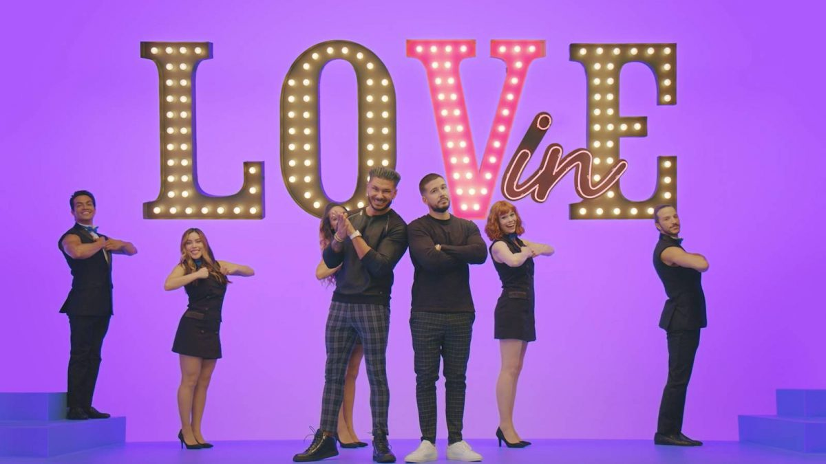 Pauly DelVecchio and Vinny Guadagnino in a promotional image for 'Double Shot at Love' Season 3