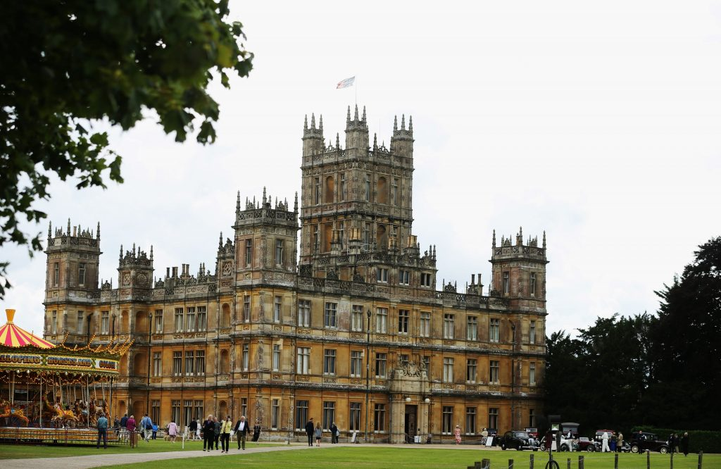 The set of 'Downton Abbey,' Highclere Castle